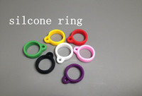 Wholesale Ego Lanyard Stainless - Silicone Rings eGo Rings evod Rings Necklace String Ring for eGo Series Electronic E Cig Ego stainless steel Lanyard Rings every time