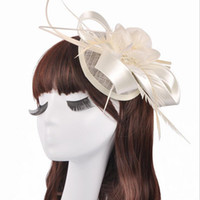 Wholesale Vintage Wedding Hats - 6 Colors Vintage Wedding Hats Sombrero Boda Wedding Fascinators And Hats Bridal Hats 2017