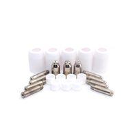 Wholesale Plasma Electrodes - 40pcs SG51 Consumables tip electrodes gas ring porcelain shield cup for 60a inverter DC Air Plasma Cutter SG51 cutting torch gun