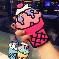 cep telefonu stilleri toptan satış-Iphone 6 6 S için Kılıf SıCAK 3D Silikon Cupcake Dondurma Tarzı Sevimli Yumuşak Cep Telefonu Geri Cilt Kapak Kılıf iphone 6 6 S 4.7 inç