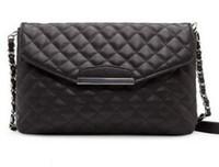 Wholesale Luxury Gift Christmas Bag - 2016 New women fashion vintage link check shoulder bags designer luxury chain black handbags women bags Christmas gift messenger bags