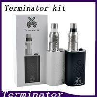 ingrosso alimentatori inferiori-Terminator Box Mod Starter Kit Terminator Mods Bottom Feeder 18650 Batteria 510 Pulsante accensione filo Vs Lucifer Box Mod Kbox 120W 0211199-2