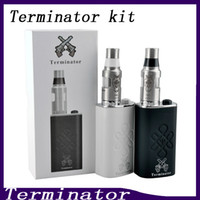 набор терминаторов оптовых-Terminator Box Mod Starter Kit Модули Terminator Податчик 18650 Батарея 510 Кнопка включения нити против Lucifer Box Mod Kbox 120W 0211199-2