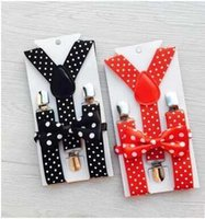 Wholesale Boy Bow Tie Belt - Children Gentlemen style Neck Tie Set NEW Bow Tie belt sets for Boys Girls Kids gift E605