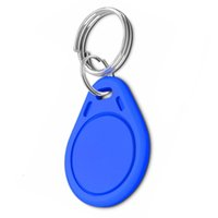 Wholesale 125khz Fob - 500pcs   lot RFID Key ISO Fobs 125kHz Proximity ABS ID Tags Tag Access Controller keys in blue with printed number