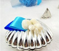 Wholesale Beach Theme Party Favors - Sea Shell Candy Boxes Beach Theme Candy Favors Wedding Party baby shower Favors gifts Candy Package New Wedding Favors holders