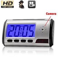 cámara de visión nocturna despertador al por mayor-Mini cámara reloj despertador 1080P HD Video Motion Detection Night Vision IR Video Recorder Mini cámara de vigilancia