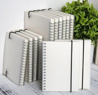 Wholesale Notebook Grid - Spiral book coil Notebook To-Do Lined DOT Blank Grid Paper Journal Diary Sketchbook For School Supplies Stationery Store