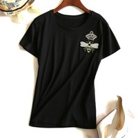 Wholesale Unlined Shorts - Women Quality Full Cotton Apis Florea Embroidery Short Sleeve Ma'am 2017 Spring And Summer Small Unlined Upper Garment 1626353316