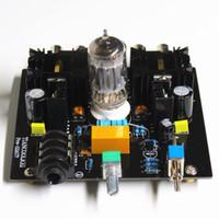 Wholesale Pre Amplifier Kit - Freeshipping Audio tube preamplifier Board Pre-Amp Class A tube preamp Valve Class A 12AU7 Tube Headphone diy amplifier kit