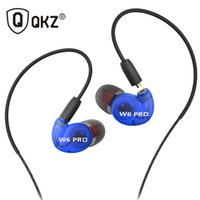 Wholesale Mobile Fone - QKZ W6 Earphone Headset With Mic Microphone For Mobile Phones MP3 Stereo Bass Earbuds With 3.5mm Jack fone de ouvido Sport Remov