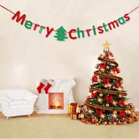 Wholesale Paper Pennant - Merry Christmas Hang Pennants Colorful Art Paper Flag Five Styles Alphabet Banner Party Santa Claus Tree Decor 6 5ks F R