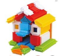 bloques de montaje de plástico al por mayor-Creative Spiked Plastic Building blocks Bloques de construcción para niños Juguetes primarios Interacción entre padres e hijos Juguetes educativos