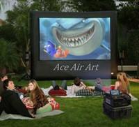 projeções de video venda por atacado-Chegada nova moda design usado tela de cinema de projeção inflável atacado, tela de vídeo inflável