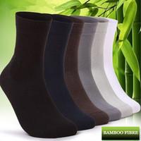 Wholesale Wholesale Print Bamboo - Wholesale-4pcs  2 Pairs Men's Sport Socks Bamboo Fiber Cotton Texture Autumn Winter Sport Bamboo Socks For Men Excellent Export Flexible
