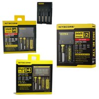 Wholesale Nitecore I4 Intellicharge - Nitecore E I4 I2 D4 Digicharger LCD Battery Charger for 18650 14500 17670 18490 17500 17335 Intellicharge Universal Charger retail box