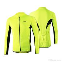 manga longa mtb jersey verão venda por atacado-Arsuxeo 2016 dos homens de ciclismo jerseys primavera verão esportes ao ar livre mtb bicicleta bicicleta mangas compridas jersey bicicleta clothing camisas desgaste