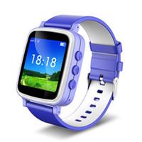 gsm gps reloj de pulsera al por mayor-2016 Reloj GPS Tracker para niños Reloj GPS seguro Q80 Q60 Reloj inteligente SOS Buscador de llamadas Buscador de localizadores Monitor GSM 1.44 pantalla