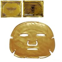ingrosso migliori maschere di collagene-Maschera facciale del collageno dell'oro Bio Maschera di cristallo del collageno della polvere dell'oro di cristallo delle foglie Maschera facciale Idratante Migliore qualità