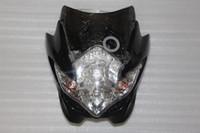 carenado moto nuevo al por mayor-New Black Street Fighter Front Fairing motocicleta linterna lámpara motocicleta personalizada para XJ GPZ CB GSR envío gratis