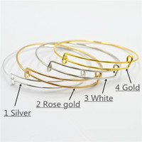 Wholesale Alex Ani Set - Charm bracelet Alex and ani 18k plating stainless steel 4 colors 63 65mm fashion jewellry flexible hard bangles christmasa classic