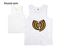 Wholesale Cheap Bodybuilding Vest - Wholesale- Wu Tang Muscle Tank tops for men brand design print vest boys hip hop Cheap sleeveless undershirt bodybuilding clothing