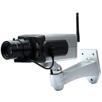 Indoor outdoor activation - Battery Powered Practical Economic Dummy CCTV Security Camera with Activation Light New