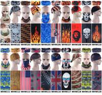 Wholesale Wholesale Scarf Sets - Wholesale-2016 Fashion Cycling Skull Flames Multi Purpose Tubular Scarf Bandana Multi function Headbands Seamless Wear 100pcs lot