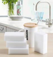 magic cozinha limpeza esponja pad venda por atacado-100 pçs / lote Multi-função Esponja Mágica Melamina Eraser Cleaner Limpeza Doméstica Esponjas Ferramentas de Cozinha Banheiro 100x60x20mm Escovas de Limpeza