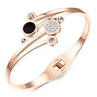 ingrosso braccialetto delicato del oro-Braccialetti delicati del polsino del braccialetto del polsino del braccialetto placcato oro rosa degli accessori d'annata dei nuovi accessori della ragazza di arrivo per le donne / signore FGH836