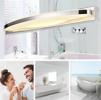 Wholesale Modern Luxury Bathroom - 15W LED Mirror Light Modern Luxury Bright LED Crystal Bathroom Wall Lamp Mirror Front Wall light Wall Sconces Washroom Wall Lamp Two Styles