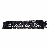 черные кружева для ремесел оптовых-Створки для холостяка девичник девичник невесты кружева черный, чтобы быть на День рождения свадьба украшения подарок ремесло DIY пользу