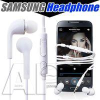 micrófono de auriculares superior al por mayor-Auriculares con micrófono más vendidos para Samsung Galaxy S7 S6 S4 J5 N7100 Auriculares In-ear PVC Teléfono móvil Manos libres Micrófono SIN paquete