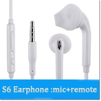 Wholesale Gel Earphones - Brand S6 Earphones Ear Gels Headphone Earbuds with Mic and Volume Control for Galaxy s7 s8 s8plus Android Devices DHL free