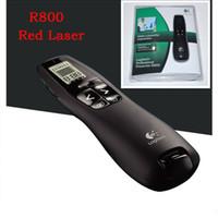 drahtlose usb-fernlaservorlage großhandel-Professioneller R800 Wireless Presenter 5MW Roter Laserpointer für 2,4 GHz Fernbedienung Powerpoint Presentation Clicker mit USB Empfänger