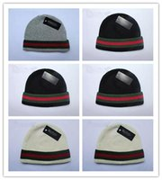 Wholesale Designed Beanies - Top Selling Autumn Winter Unisex wool hats fashion casual brand skullies & Beanies For Men and women Striped design Free Shipping