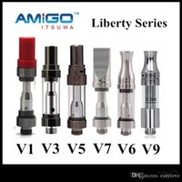 Wholesale Genuine Cartridges - Genuine Amigo iTsuwa Liberty Tank Series V1 V3 V5 V6 V7 V8 V9 Cartridges Ceramic Vaporizer Free Shipping