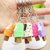 Wholesale designer cream handbag for sale - Group buy Car Bag Pendant Creative Cream Key Chain Free Fashion Handbag Chain New Key Ice Shipping Pmjdn