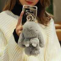 Wholesale Doll Silicone Case - Winter Fashion Warm Rabbit Fur Case for iphone 7plus Bunny Doll Fluffy Mirror Back Case for iphone 7 7 plus 6 6s plus