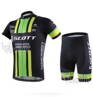 Wholesale Scott Riding Shorts - Dropship Scott Cycling Jerseys 2016 Cycling Bib Shorts Set Quick Dry Sports Wear MTB Pro Outdoor Riding Kits Tighted Bicycle Clothes