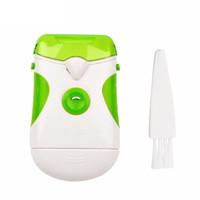 используемые файлы оптовых-Новый Профессиональный Зеленый Clipper Электрический Триммер Для Ногтей двойного назначения Кусачки Для Ногтей Резак Файл Маникюр Педикюрный Набор