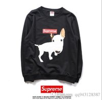 Wholesale Funny Dog Sweaters - Men's Hoodies Meng dog funny B dog thin section of terry sweater Hip Hop Men and Women Couple Sweater Jacket.