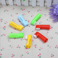 Wholesale Dogs Breath - Hot Selling Soft Pet Finger Toothbrush Dog Brush Addition Bad Breath Tartar Teeth Care Dog Cat Cleaning Supplies