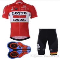 mayo bib lotto toptan satış-LOTTO Yarış Takım bisiklet giysileri Bisiklet Giyim Seti Erkekler Giyim Suit Jersey Önlük Şort mtb bisiklet giyim spor jersey bisiklet giysileri