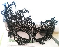 Wholesale White Women Masks - Lace Mardi Gras Masks 10 Styles Half Face Halloween Lovely Black White Venetian Masquerade Party Supplies For Women Christmas Disco