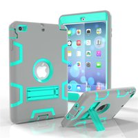 Wholesale Smart Cover Table Holder - Free shipping Hybrid Silicone Gel Rubber Robot Shockproof Cover Case desk Stand Holder For Table PC iPad Air 3 MINI 3 MINI3