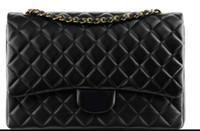 Wholesale Vintage Knitting Tote - 33cm 58601 Luxury Classial XXL Maxi Large Deauville Tote shoulder bag Caviar Leather Jumbo Double Flaps Bag Women Shoulder Bag 58601 Handbag