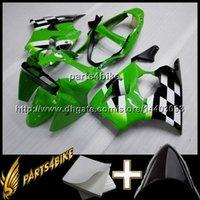Wholesale Kawasaki Zx6r White Fairing - 23colors+8Gifts Injection mold ABS Fairing For Kawasaki ZX6 R 2000-2002 ZX6 R 00 01 02 black and green Aftermarket Plastic
