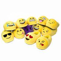 Wholesale Indoor Cartoon Slipper - Hot Sale 20 Style 3D Emoji Plush Stuffed Unisex Slippers Cartoon Winter Home Indoor Shoes Slipper B0491