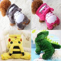 jolie robe de chien rouge achat en gros de-L'automne et l'hiver avec les petits chiens en peluche Totoro tourné vêtements nouveau chien de vêtements quatre vêtements pour animaux de coton